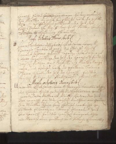 Taufbuch aus dem Jahr 1656, Pfarre Ober-Grafendorf. Diözesanarchiv St. Pölten.